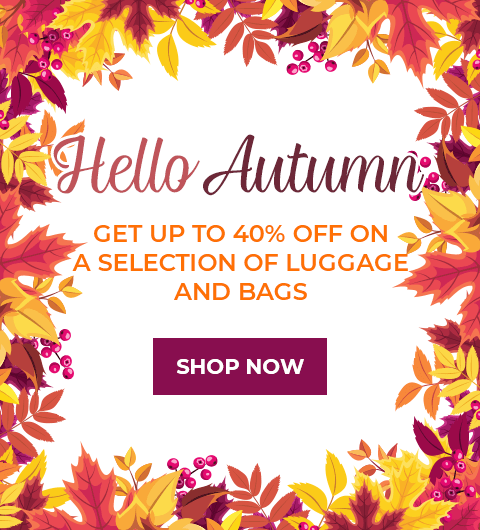 Hello Autumn - Up to 40% off on a selection of luggage and bags